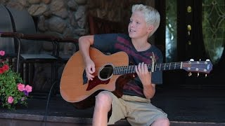 Kenny Chesney - American Kids acoustic cover by Carson Lueders