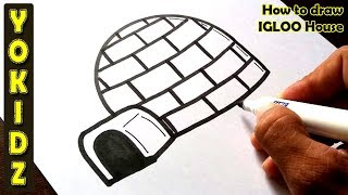 How to draw IGLOO house