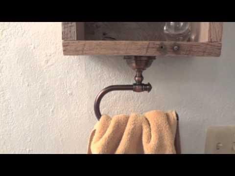 DIY - How To Make A Pallet Hand Towel Holder