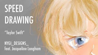 """Taylor Swift: Folklore"" | Speed Drawing + Procreate | nygi_designs_ feat. Jacqueline Langham"