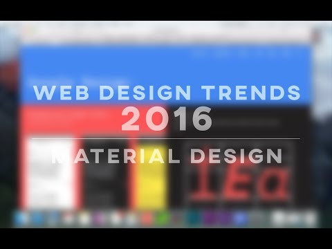 Web Design Trends 2016 - Material Design
