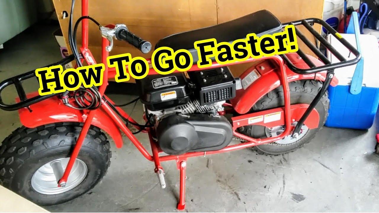 how to make your mini bike faster coleman ct200u