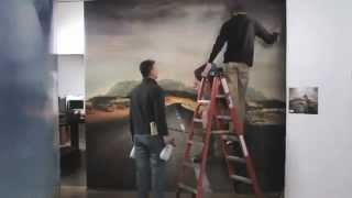 How to hang pre-pasted wallpaper - digitally printed wallpaper