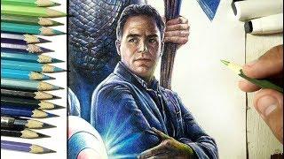 วาดบรูซ แบนเนอร์-ฮัลค์ - Drawing Bruce Banner-Hulk(Avengers Endgame PART 6) | Fame Art