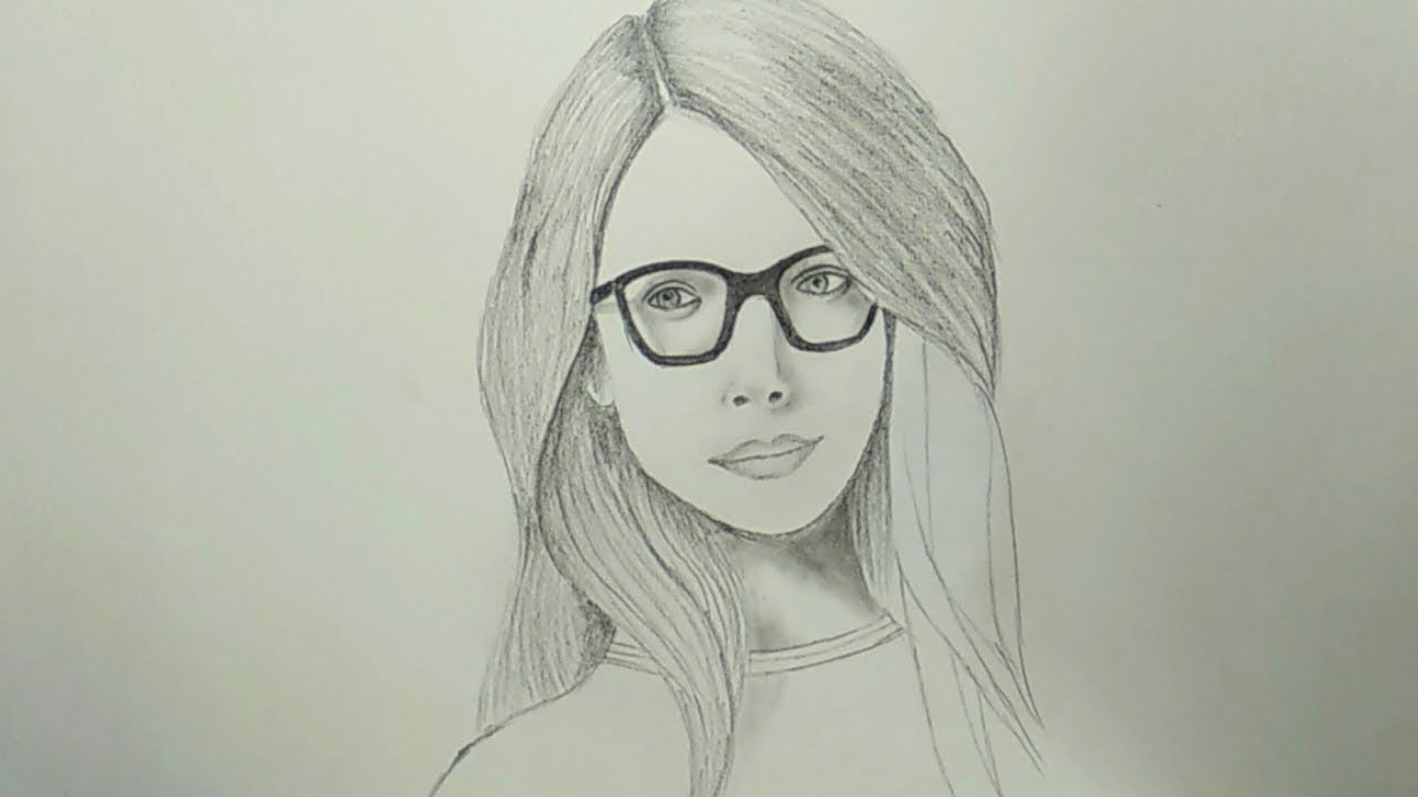 Pencil drawing how to draw a cute female face easy