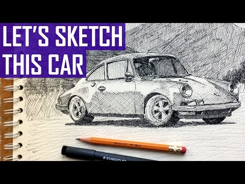 How to Sketch a Car in Pen and Ink