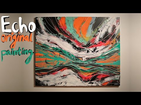 Painting – Echo (contenporary abstract art)