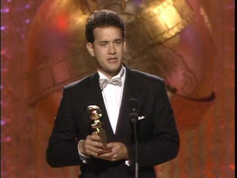 Tom Hanks Wins Best Actor Motion Picture Comedy - Golden Globes 1989