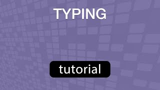 GoVenture TYPING Tutorial Video