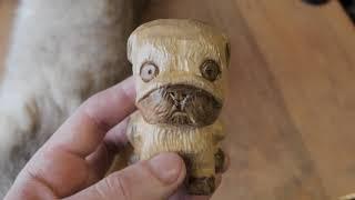 Символ 2018 года - резная собака из дерева своими руками