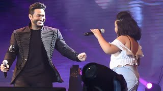 أشرقت أحمد نجمة ڤويس كيدز تغني عيش بشوقك مع تامر حسني - مارينا ٢٠١٨