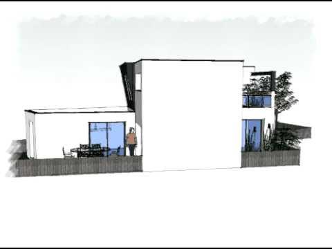 Arteco164 maison contemporaine toit plat youtube for Constructeur maison moderne toit plat