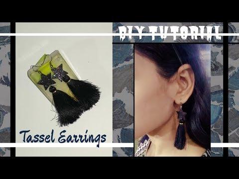 DIY tassel earring | Star tassel earrings | DIY Fashion Jewellery | jewellery making