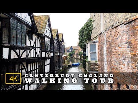 Canterbury, Kent, England | Town Centre Walking Tour in 4K