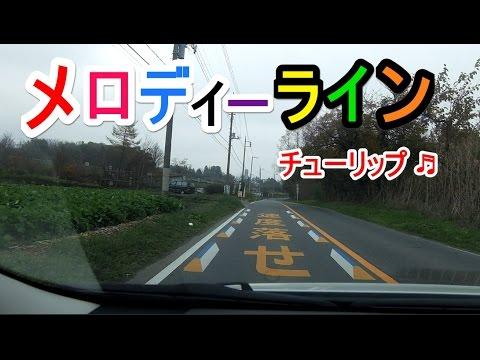 【メロディーライン】 チューリップ♪ 音響道路 群馬県前橋市