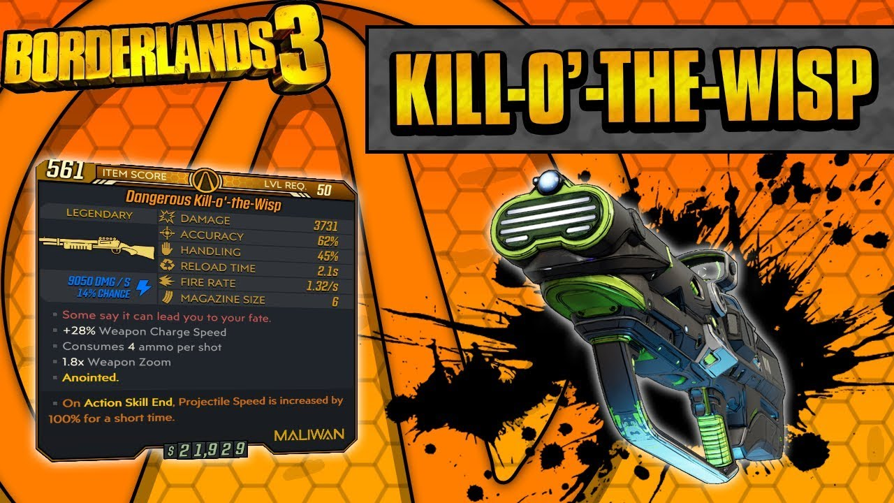 Borderlands 3 | Kill-o'-the-Wisp Legendary Weapon Guide (Shield Breaker!) thumbnail