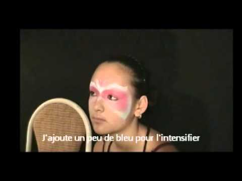 comment faire un maquillage de masque style loup de bal youtube. Black Bedroom Furniture Sets. Home Design Ideas