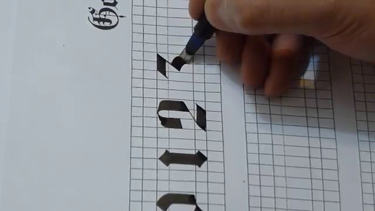 How To Write Numbers 0123 4 In Gothic Style