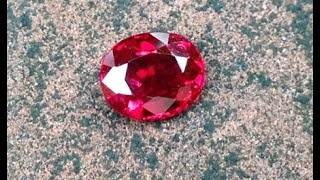 1.19 carat Vivid Red (Pigeon Blood) Very Rare Thai Ruby