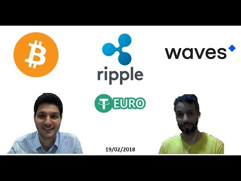 Bitcoin, XRP and Waves Analysis, What is EURO Tether - تحليل لعملة البيتكوين، ريبل ، وييف