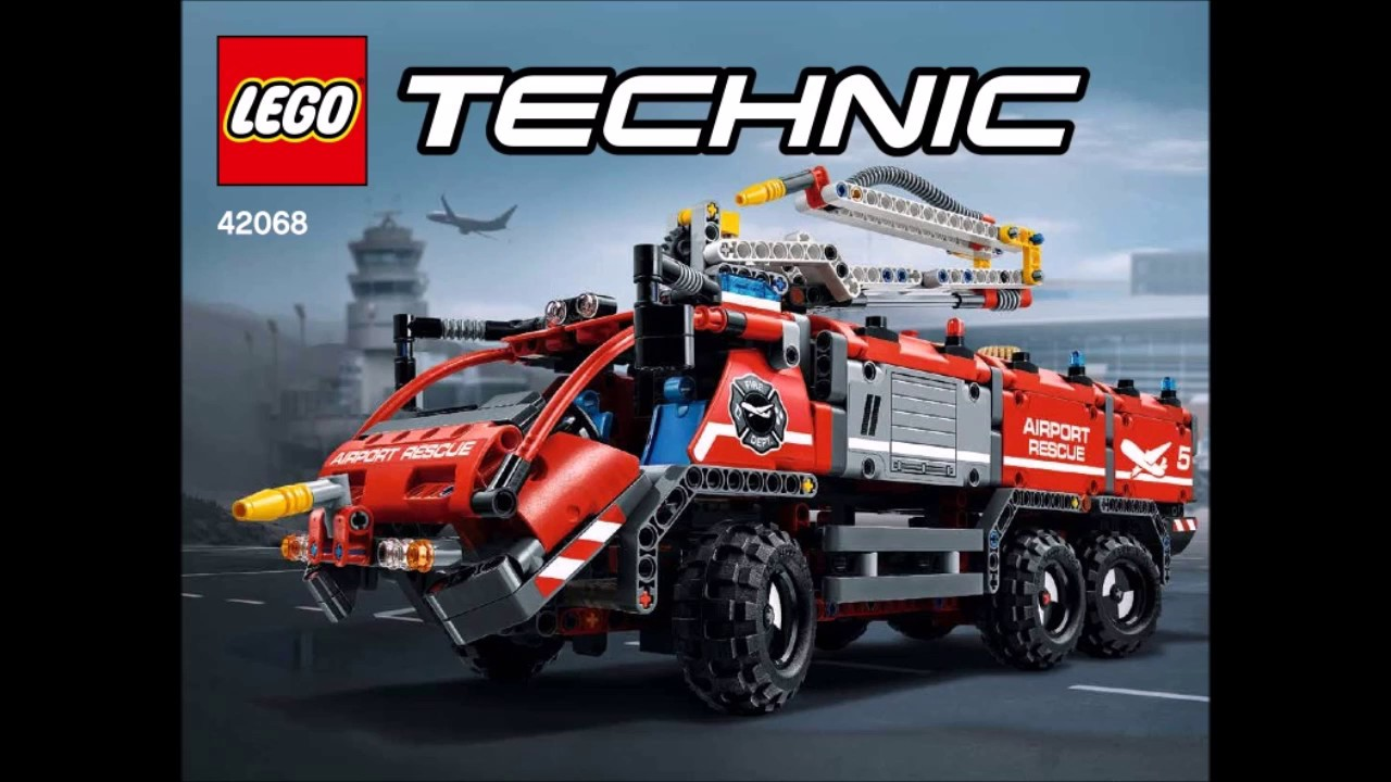 Lego Technic 42068 Airport Rescue Vehicle Instructions Youtube