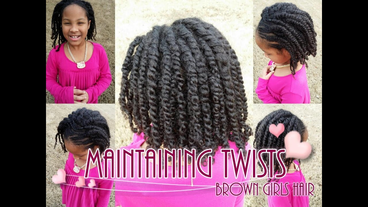 How To Maintain Twists On Natural Girls Hair Youtube