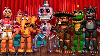 Todos los Animatronicos y Minijuegos **FNAF 6** Freddy Fazbears Pizzeria Simulator