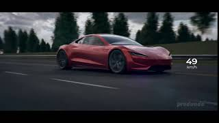 Tesla Roadster Acceleration But When It Hits 100 Km/h Video Stops