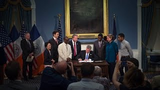 Mayor de Blasio Presides Over Bill Signing Ceremony
