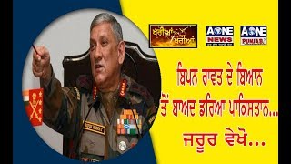 Pakistani Media Reaction On Indian Army Chief Bipin Rawat Warns To Pakistan  | Aone News