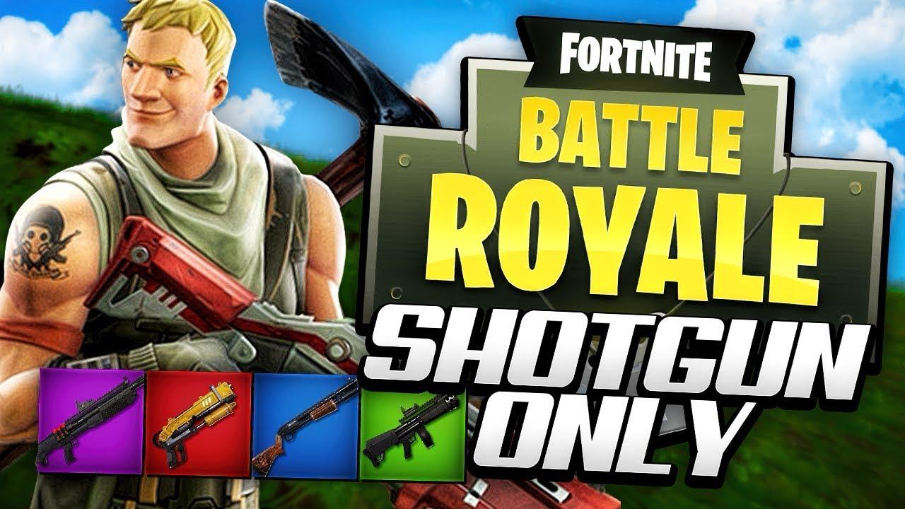 shotgun only challenge fortnite battle royale youtube