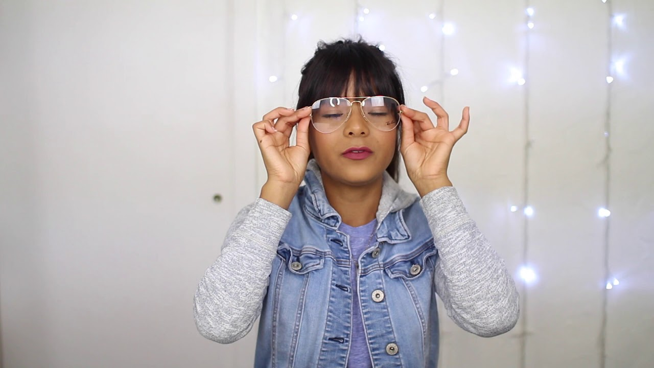 6f61f30ed8a Ray-Ban Rx 6589 Aviator Gaze Prescription Glasses Review - YouTube