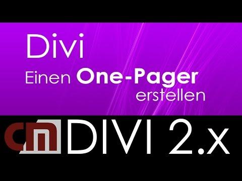 WordPress Divi – Einen One Pager erstellen