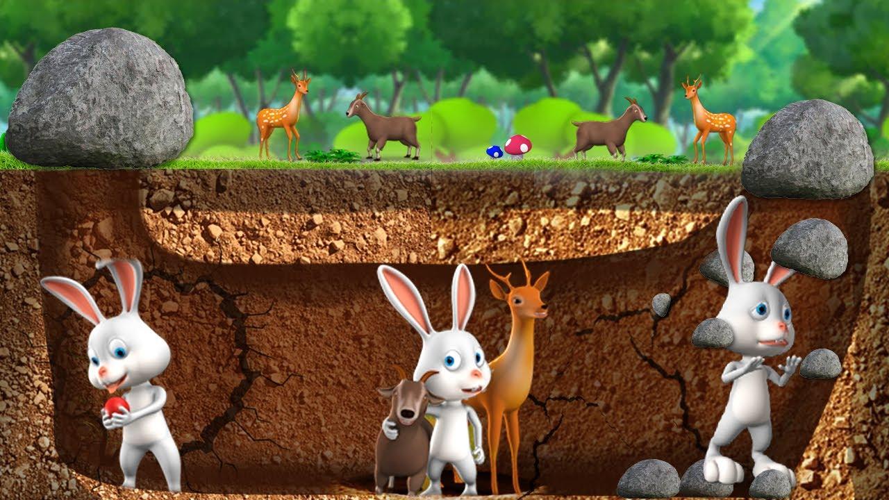 Download భూగర్భంలో చిట్టి కుందేలు - Underground Rabbit 3D Animated Short Moral Stories   JOJO TV Fairy Tales