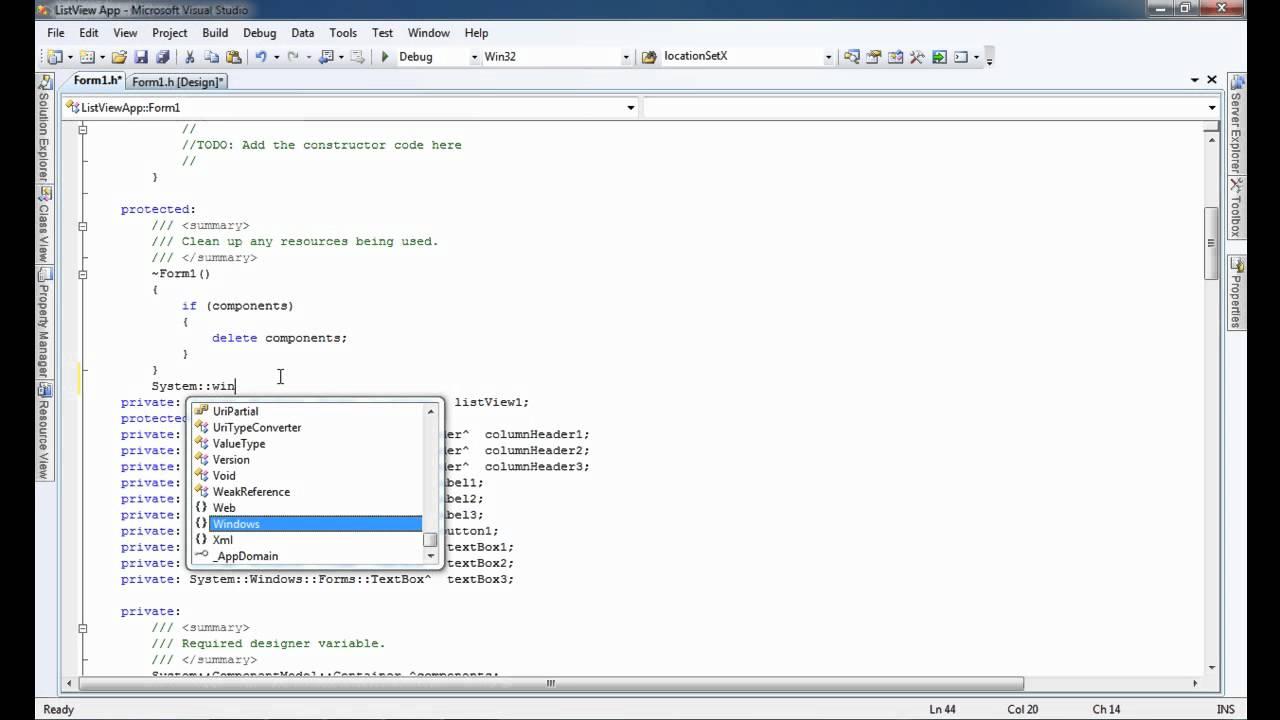 Listview Data Entry Visual C++