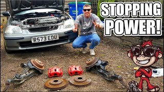 🐒 HONDA CIVIC BUILD Ep10 - DC2 BRAKE CONVERSION + REAR DISKS