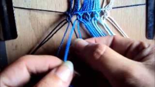 Repeat youtube video Macramé - Muestra de tejido - Macrame sample