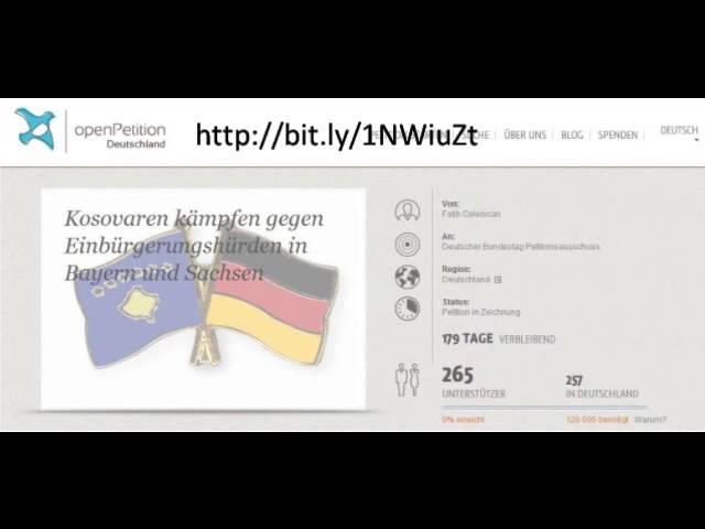 Kosovaren kämpfen gegen Einbürgerungshürden I