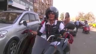 الدراجات النارية الأجرة خيار أسرع للتغلب على الزحام في مصر