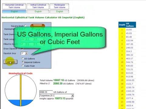 fuel tank dipstick chart: Tank volume dipstick calc www blocklayer com youtube