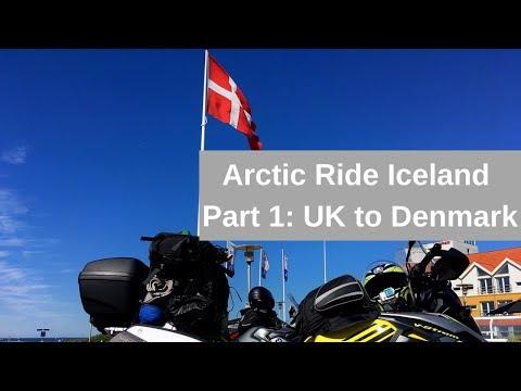 Arctic Ride Iceland  - Part 1  - UK to Denmark (Suzuki V-Strom 1000XT)