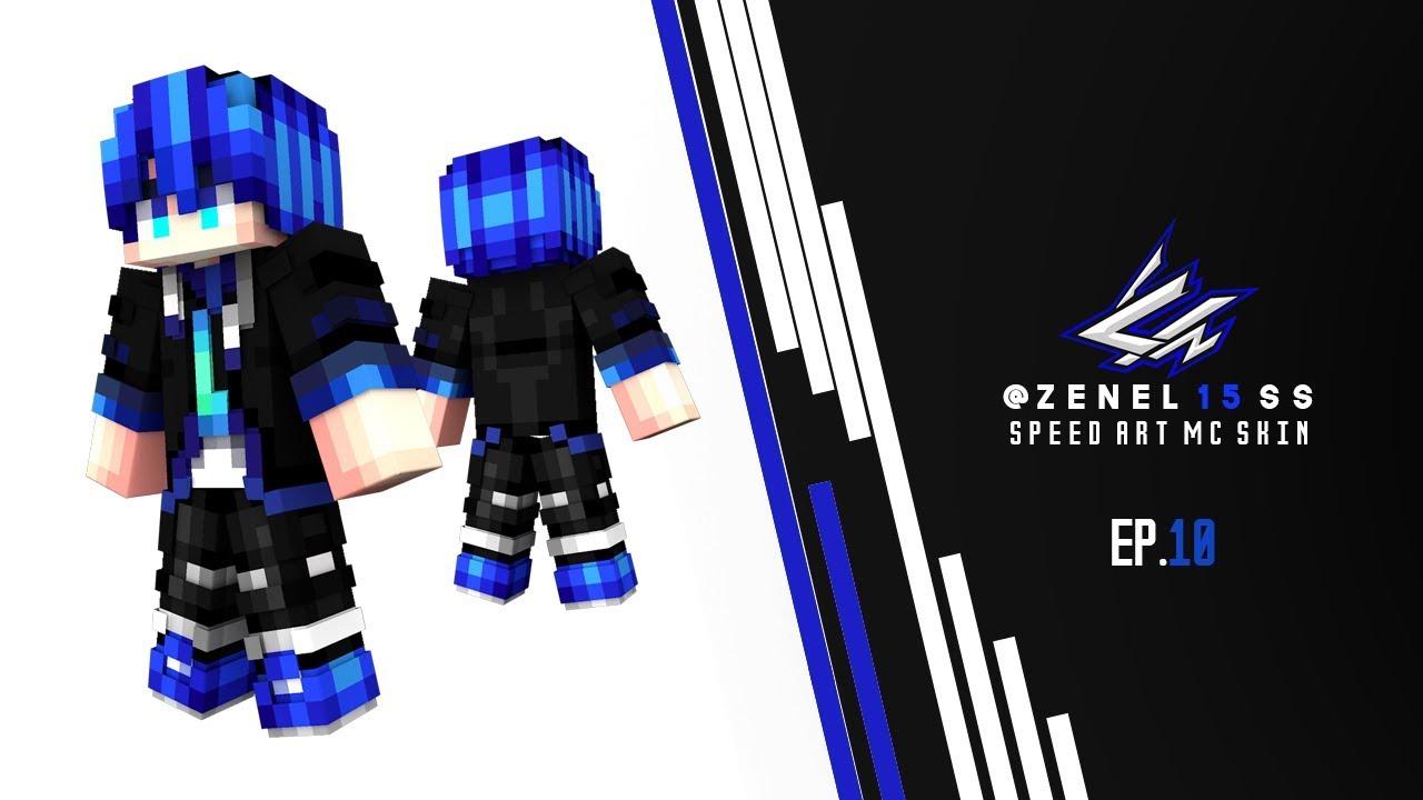 ♣ [วาดสกินมายคราฟ] Speed Art MC Skin  - xSanTheBeastZ By - Z E N E L 1 5 S S - EP.10