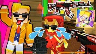 Blockman Git - { AK-47 Yükseltme}Yapı ve Minecraft Mod/ o/ Ateş