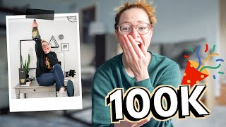 HITTING 100K SUBSCRIBERS ON YOUTUBE! // My reaction & 100k subscriber celebration!
