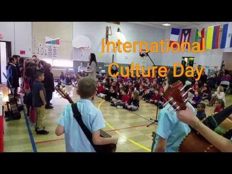 International culture day at International Prep Academy in Champaign Illinois