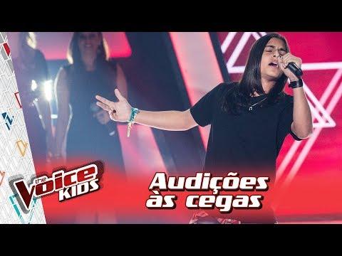 Neto Junqueira canta 'Use Somebody' na Audição – 'The Voice Kids Brasil' | 3ª Temporada