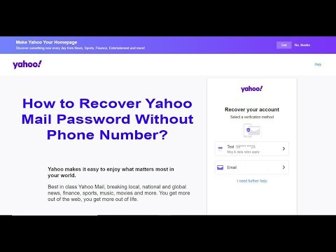 How To Recover Yahoo Mail Password Without Phone Number | Forgotten Yahoo Password