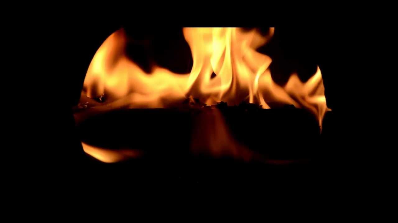 fake fireplace log burning youtube