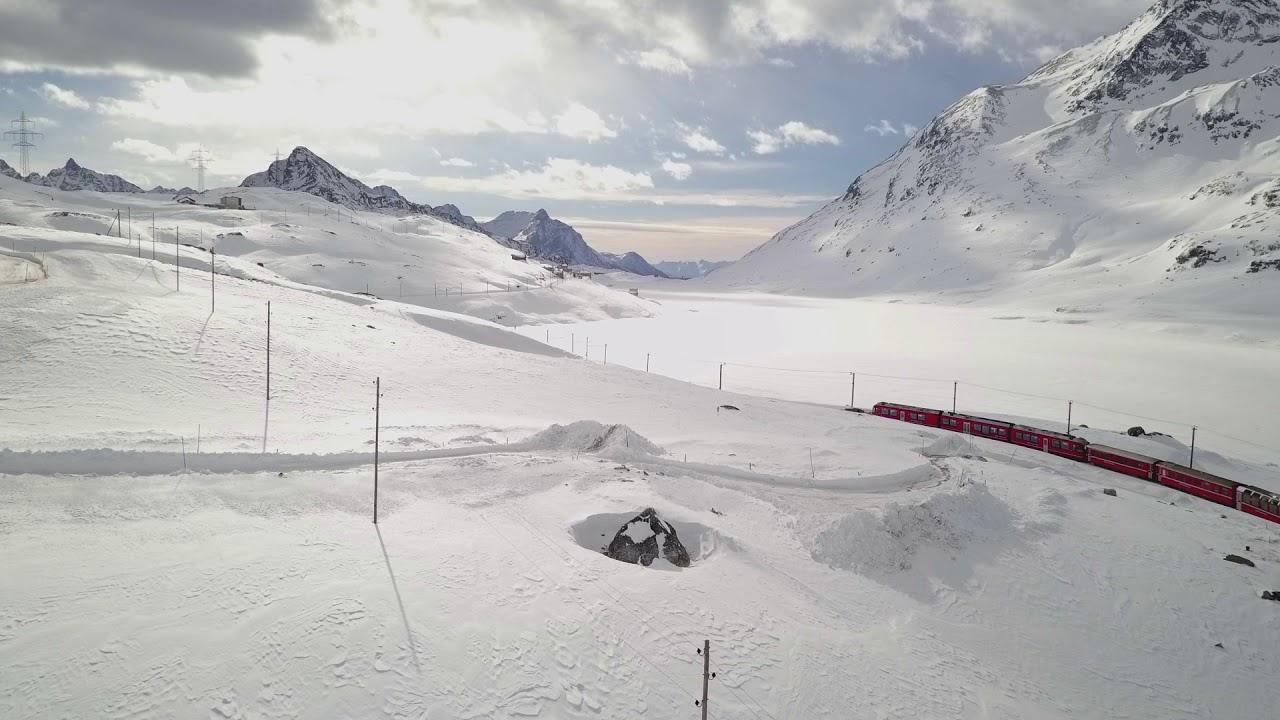 Albula-BerninaTrain Ride in Winter