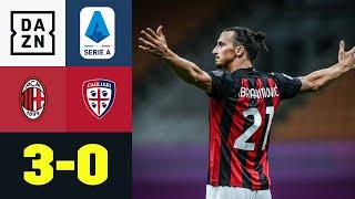Ibra-Knaller und Slapstick-Eigentor - Milan makellos: AC Mailand - Cagliari 3:0 | Serie A | DAZN